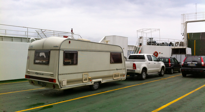 On aFerry with Caravan