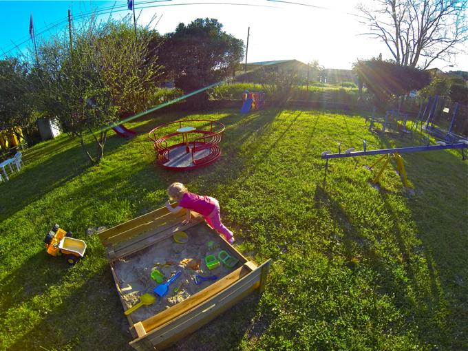 playground in campsite