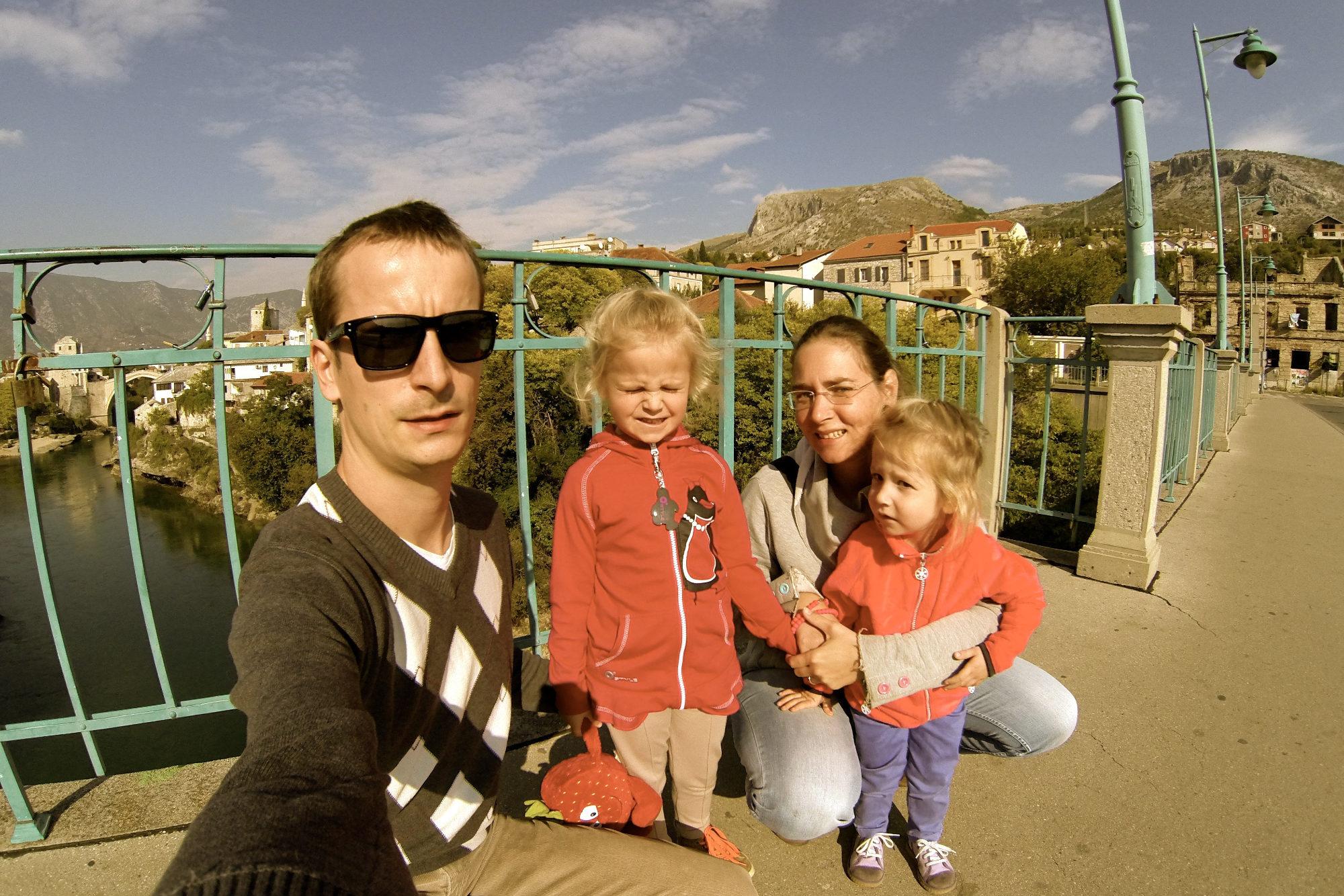 Caravan family in Mostar
