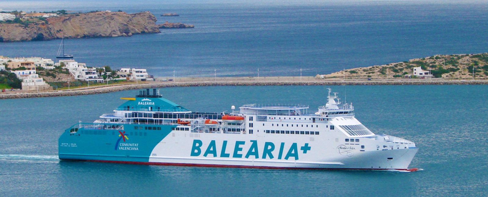 Balearia—company that offered the best value for aCar+Caravan traveller
