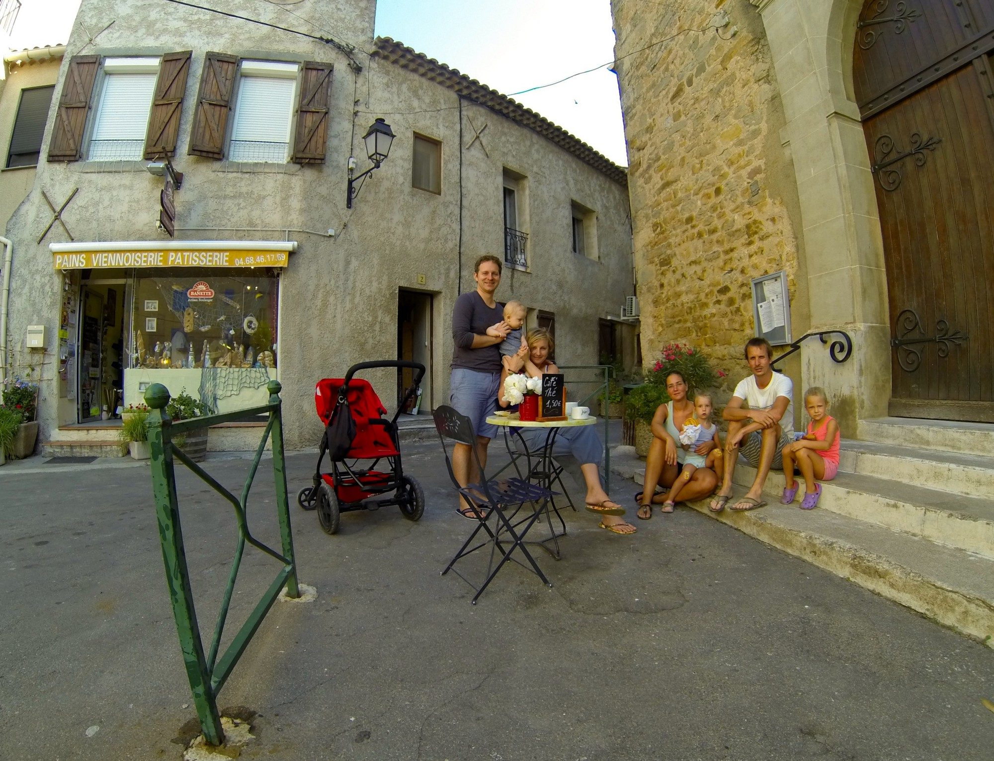 An average morning in alocal bakery in Bize-Minervois