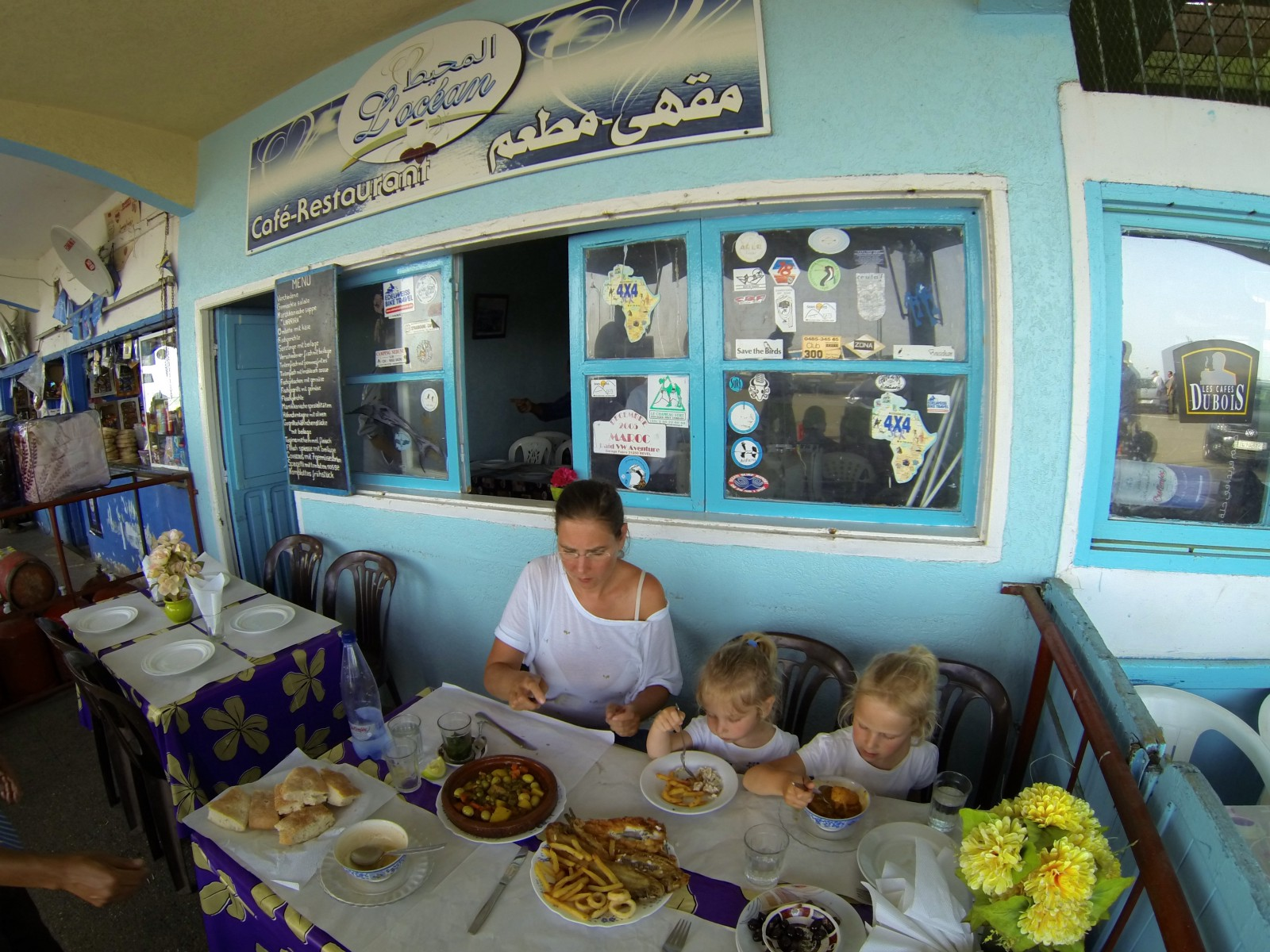 Restaurant near the coastline in Moulay Busselham