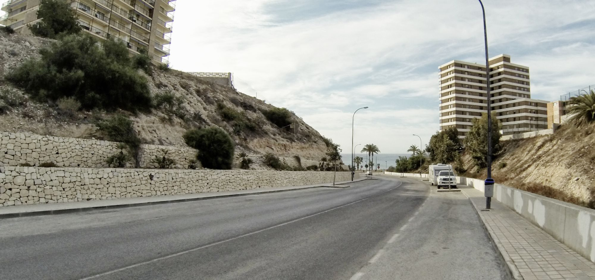 Parking at the beach in Spain