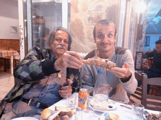 Greece - dinner on Thassos