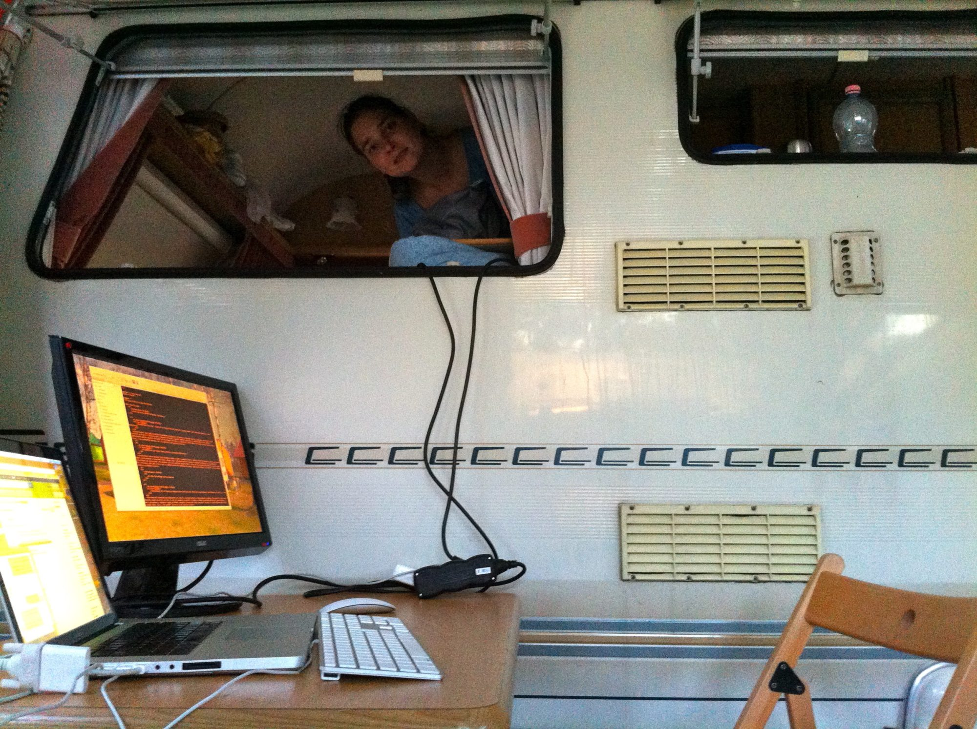 Workstation in the Caravan
