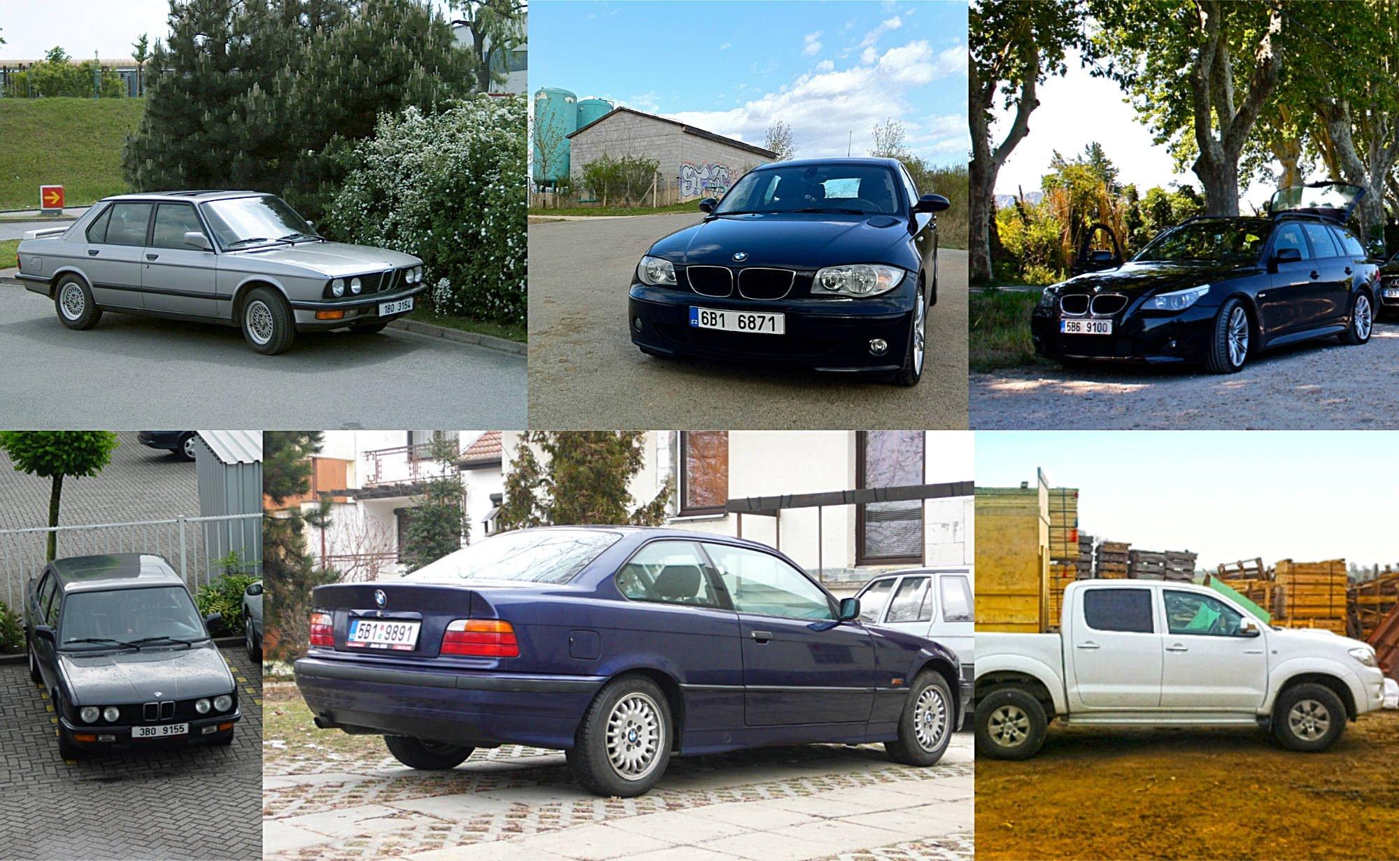 All my former BMWs