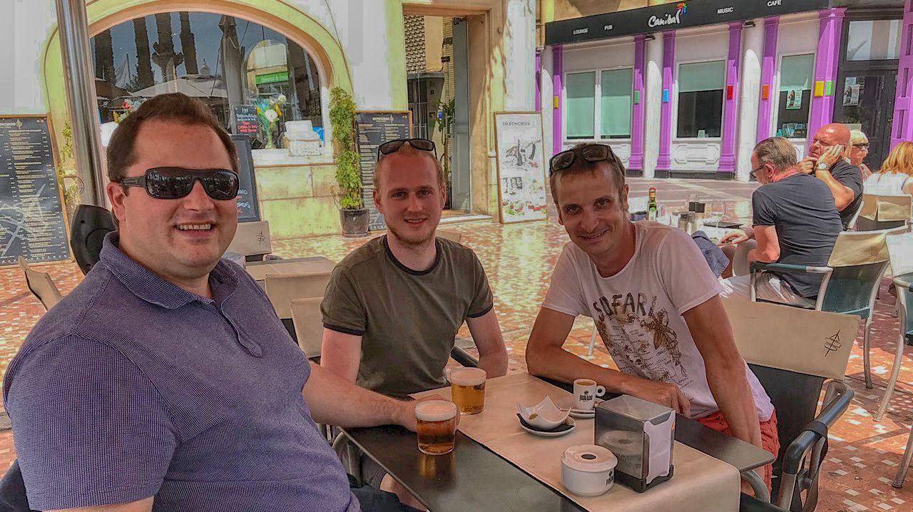 Dusan, and Amos again, in Alicante