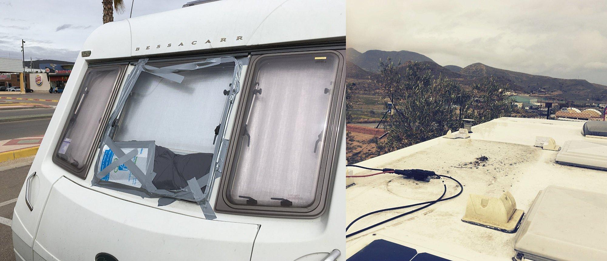 Broken Window and Solar Panel