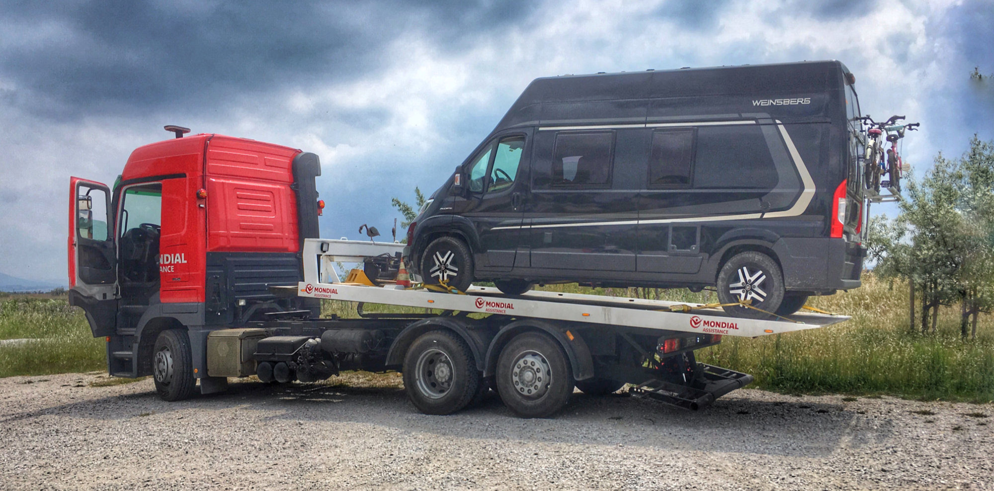 Camper Van Tow-Car Problem