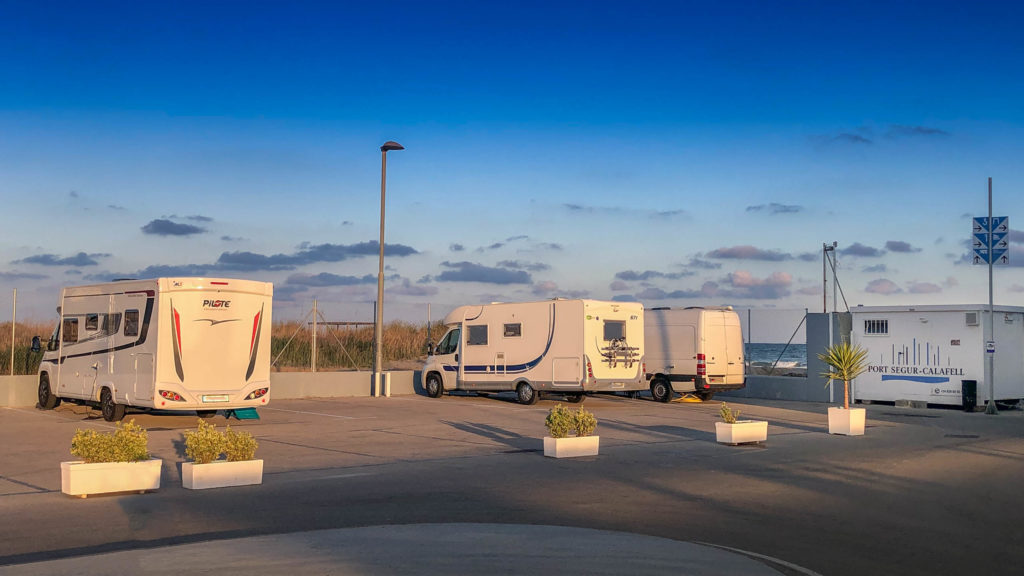 Camper spot Port Segur Calafell Marina