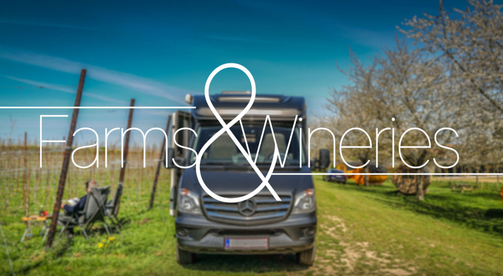 Farms & Wineries camper spots to discover