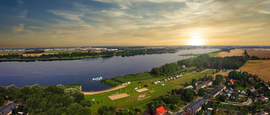 Camping area in Zborowo, Poland