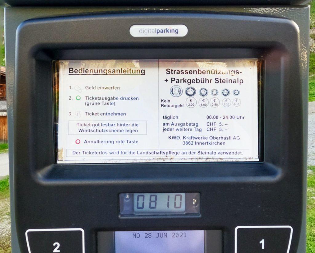 Steingletcher's parking automat